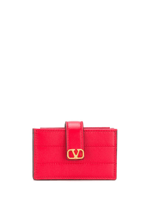 Valentino diary lines gusset wallet - Red