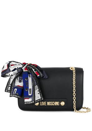 Love Moschino scarf-detail crossbody bag - Black
