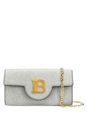 Balmain glitter metallic chain mini bag - Silver