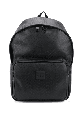 Versace Jeans logo zipped backpack - Black