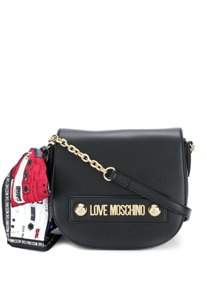 Love Moschino scarf-bow crossbody bag - Black