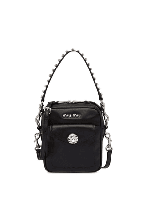 Miu Miu crystal embellished bandoleer bag - Black