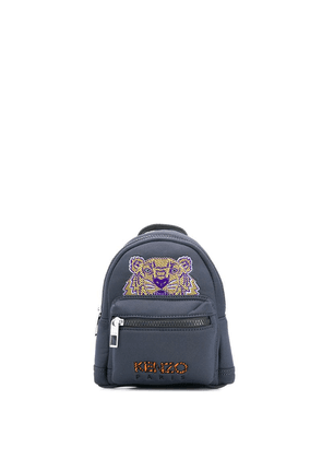 Kenzo mini tiger embroidered backpack - Grey