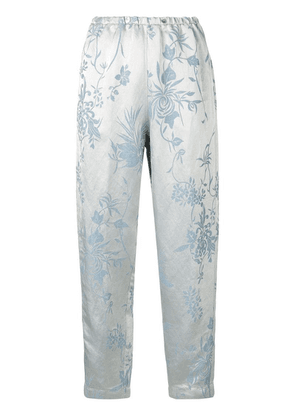 Forte Forte elasticated tapered trousers - Blue