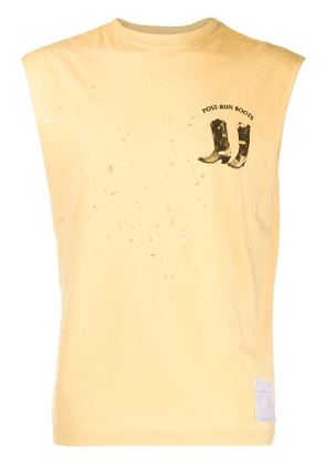 Satisfy distressed tank top - Yellow