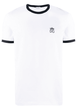 Dolce & Gabbana embroidered logo T-shirt - White