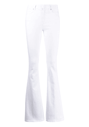 Dondup flared leg trousers - White