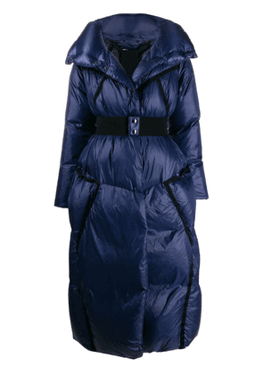 Dorothee Schumacher quilted belted coat - Blue