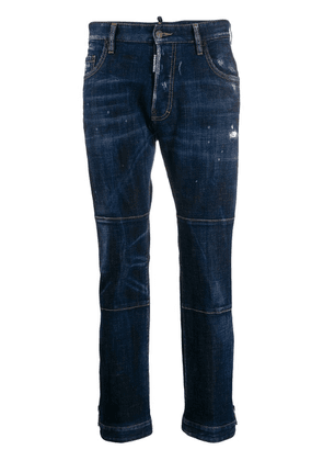 Dsquared2 panelled cropped denim jeans - Blue