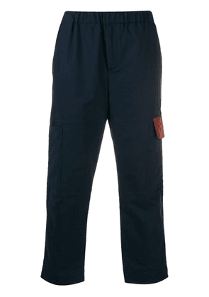 Kenzo cropped cargo trousers - Blue