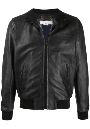 Golden Goose distressed effect bomber jacket - Black