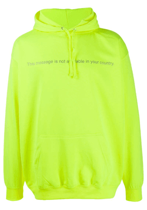 F.A.M.T. message hoodie - Yellow