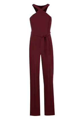 Likely criss cross strap jumpsuit - Red