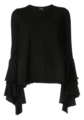 Giambattista Valli tiered sleeve blouse - Black