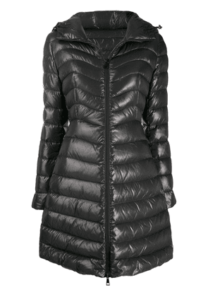 Moncler hooded midi puffer jacket - Grey