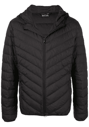 Ea7 Emporio Armani quilted hooded jacket - Black