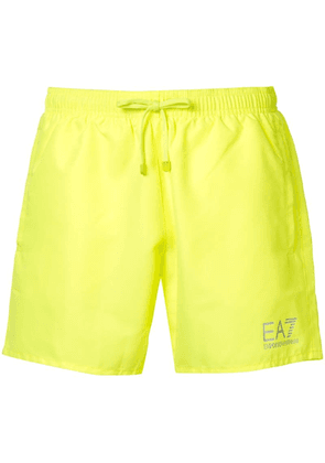 Ea7 Emporio Armani woven swim shorts - Yellow