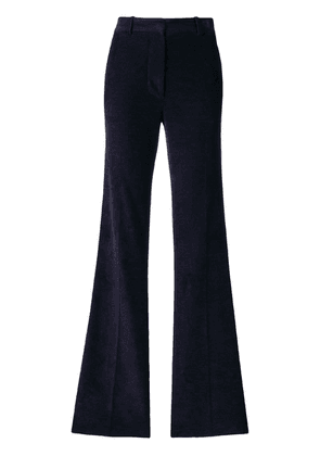 Victoria Beckham high waisted flare trousers - Blue