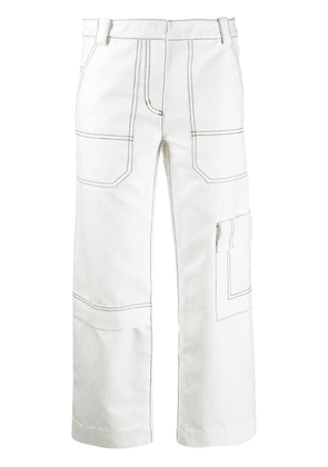 3.1 Phillip Lim twill cargo trousers - White