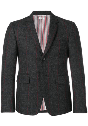 Thom Browne Herringbone Overcheck Tweed Sport Coat - Grey