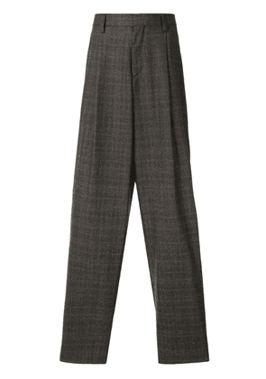 Kolor pleat detailed wide trousers - Brown