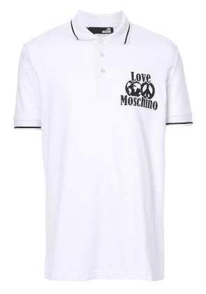 Love Moschino LOVE polo shirt - White