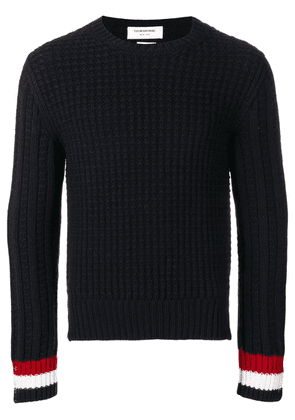 Thom Browne Chunky Fun-mix Stitch Merino Pullover - Blue