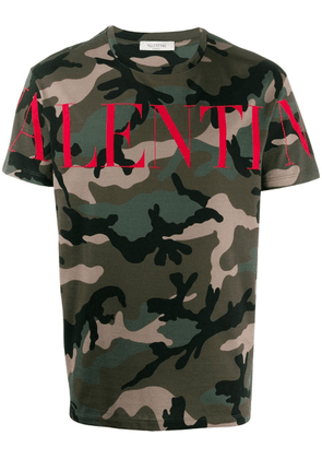 Valentino camouflage logo T-shirt - Green