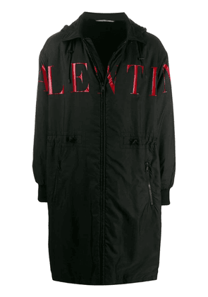 Valentino logo raincoat - Black
