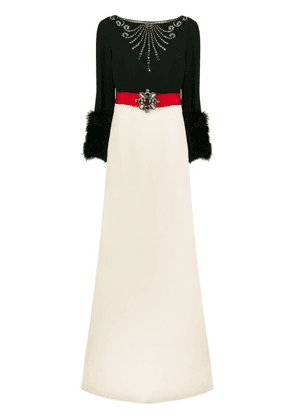 Gucci embellished long dress - Black