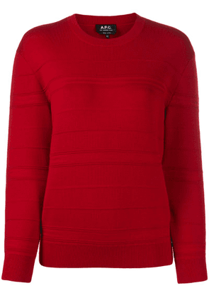 A.P.C. ribbed panel jumper - Red