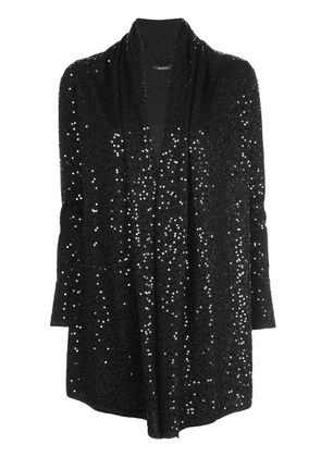 Natori loose-fit sequin-embellished cardigan - Black