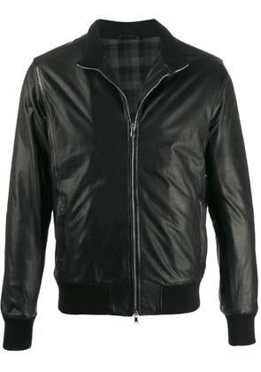 Barba textured fitted jacket - Black