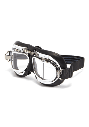 Leather driving goggles