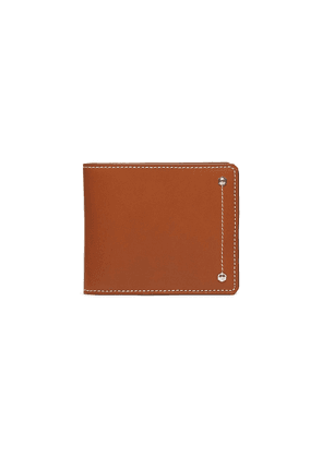'Hex' leather bifold wallet