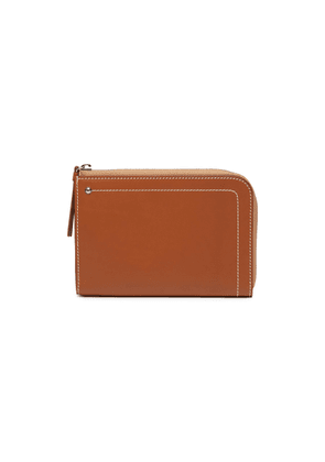 'Hex' medium leather zip wallet