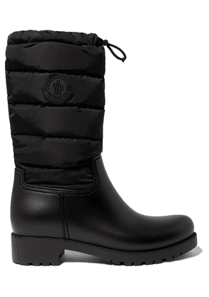 Moncler - Ginette Quilted Nylon And Rubber Rain Boots - Black