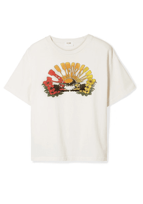 RE/DONE - 90s Oversized Printed Cotton-jersey T-shirt - Cream