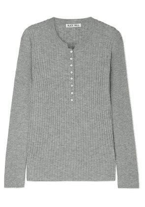 Alex Mill - Ribbed Wool-blend Top - Gray