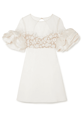 Rime Arodaky - Astaire Embroidered Tulle, Crepe And Organza Mini Dress - White