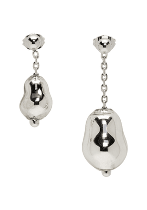 Lemaire Silver Pearl Asymmetric Earrings