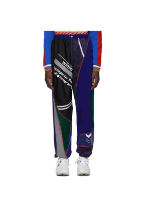 Ahluwalia Studio Blue and Green Patchwork Jogger Lounge Pants