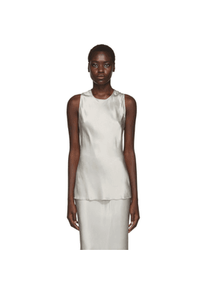 Helmut Lang Taupe Back Twist Camisole