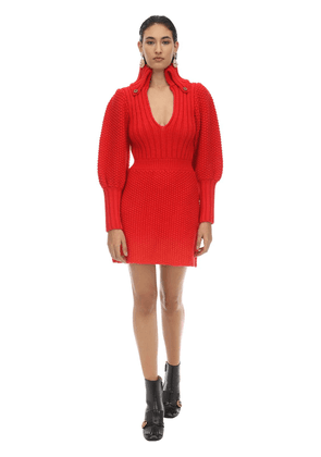 Fine Wool Knit Mini Dress