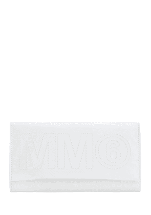 Padded Faux Leather Clutch