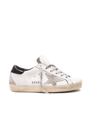 Golden Goose Leather Superstar Low Sneakers in White  Black & Cream Metal - White. Size 41 (also in 35,36,37,38,39).