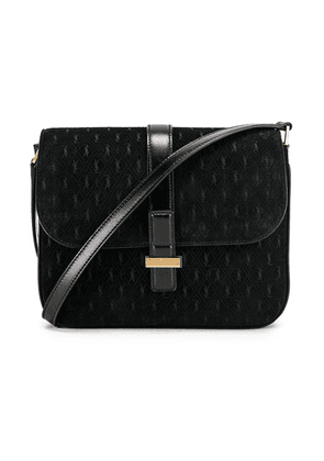 Saint Laurent Suede Monogramme Small Satchel Bag in Black - Black. Size all.