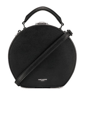 Saint Laurent Small Mica Hat Case in Black & Red & White - Black. Size all.