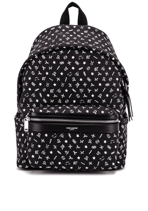 Saint Laurent Mini Zodiac Backpack in Black - Black. Size all.