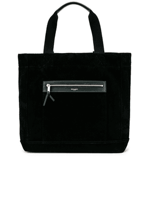 Saint Laurent City Shopping Bag in Black - Black. Size all.